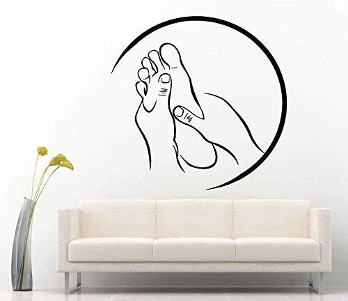 Wandaufkleber Tapete Spa Massage Zeichen Aufkleber Vinyl Aufkleber Für Salon Relax Pamper Beauty Rest Moderne Raumdekoration Aufkleber 57 * 56Cm