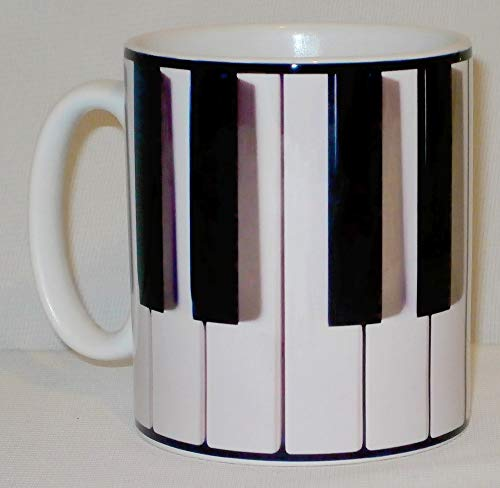 Piano Keyboard Ceramic Mug Funny Novelty...