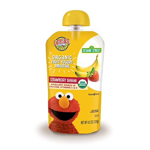 Earth's Best Organic Fruit Yogurt Smoothie, Strawberry Banana, 4.2 Ounce (Pack of 12)