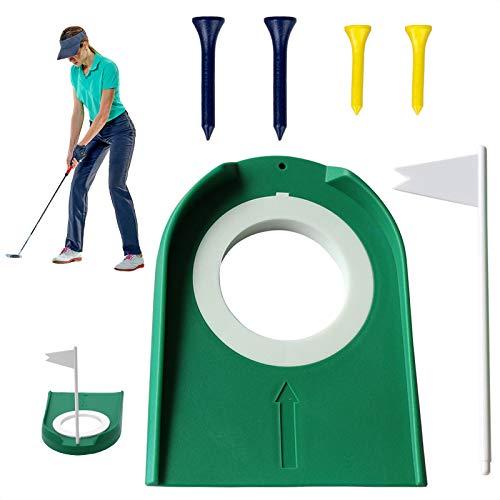MOSNOW Golf Putting Mat, with 4Pcs Wood Golf Tee,Indoor Outdoor Plastic Golf Putting  indoor putting greens