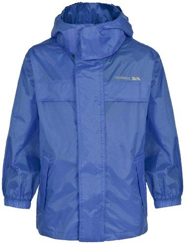 Trespass Veste Coupe-Vent pour Enfants, Homme, Pack Away Jacket, Bleu Marine, 2/3