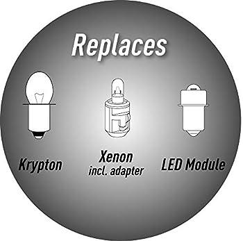 LiteXpress LXB430 Module de mise à niveau LED 2 modes 430 ou 40 lumens uniquement pour lampes de poche Maglite à 2 cellules C/D