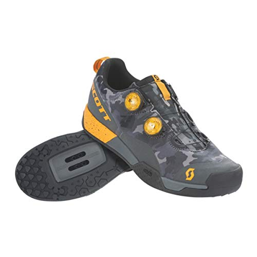 SCOTT MTB AR Boa Clip Cycling Shoe - Men's Dark Grey/Tuned Orange, 45.0