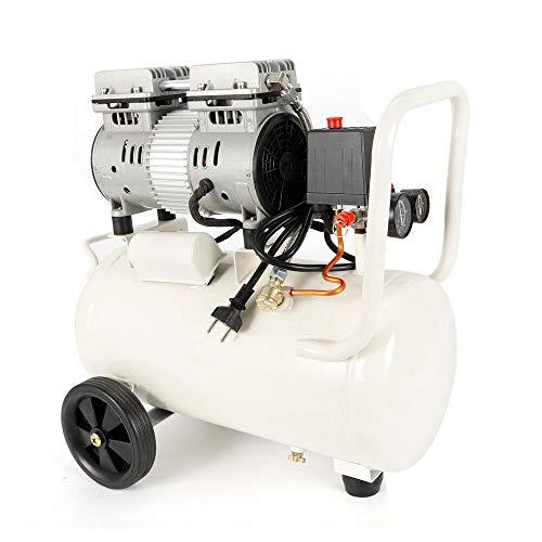 Berkalash Silent Luftkompressor, ölfrei Kompressor 12L/24L/35L, Reiner Kupferdrahtmotor Geeignet für automatische Lackierung, Zimmerei (12L)