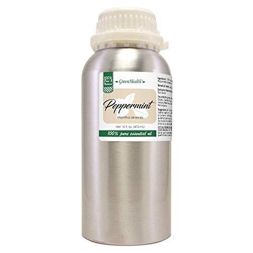 16 fl oz - Peppermint Essential Oil (100% Pure & Uncut), Aluminum Bottle - GreenHealth