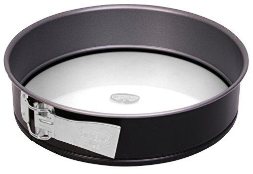 Dr. Oetker Springform Ø 26 cm mit Glasboden Backform mit schnitt- & kratzfestem Glas-Boden, runde Kuchenform mit Antihafteigenschaften, Menge: 1 Stück