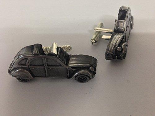 Citroen 2CV 3D-Boutons de manchette Homme-Classique-Bouton de manchette en étain effet ref37