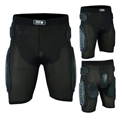 Biker Wears Motorrad-/Motocross-Shorts für Snowboard/Skaten, Herren, Schwarz , XXXX-Large