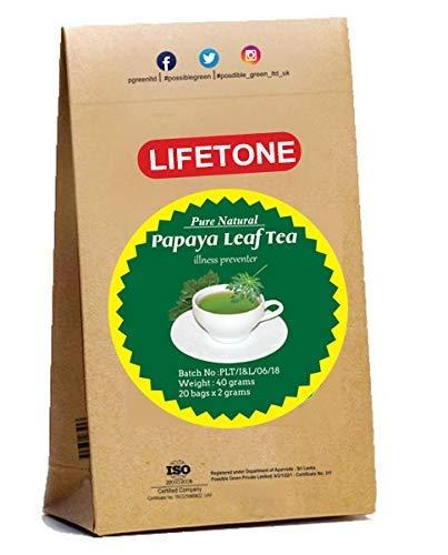 da vida al té para una vida mejor, Papaya Leaf Tea   Suplemento herbario 100% natural   20 bolsitas de té   Delicioso té de hoja verde   Té de desintoxicación natural   Té diabético