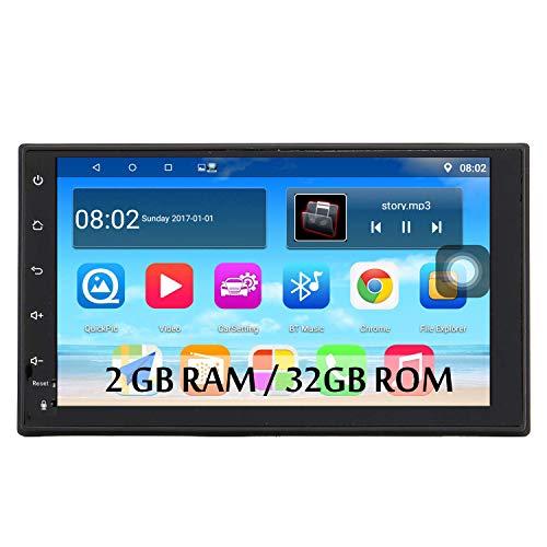 Panlelo S10 Plus 2GB RAM 32GB ROM Android 9.0 2 DIN 7 Pulgada GPS Navegación Autoradio FM Am RDS Entrada de Cámara de Visión Trasera Control del Volante Wi-Fi BT Llamada Manos Libres
