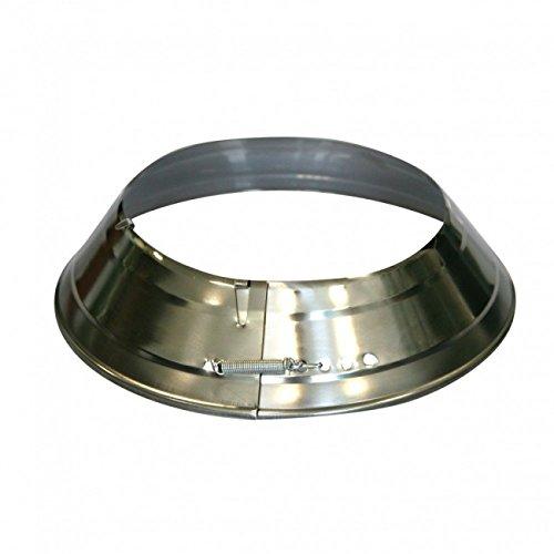 Kamino Flam Ofenrohrrosette silber, verstellbare Sichtblende, Rosette aus verzinktem Stahl für Schutz vor Korrosion, einfache Handhabung, Maße: ca. Ø 135 - 165 mm, Ringbreite: ca. 3,5 cm