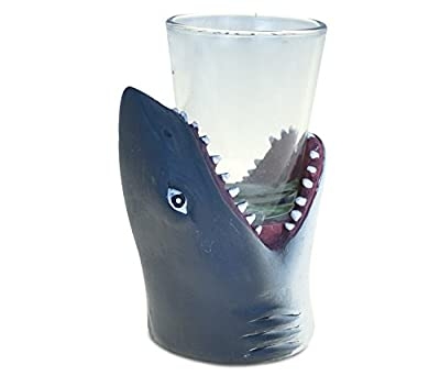 """Puzzled""""Shark Head"""" Tequila Cocktail Whisky Vodka Oceanlife Animal Themed Shot Glass Unbreakable Home Bar Tool Party Accessory Drinkware Cute Funny Novelty Glassware Drinking Game Shooter Glasses"""