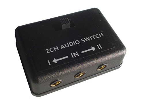 """3.5mm Audio Switch AB A B 1/8"""" Selector"""