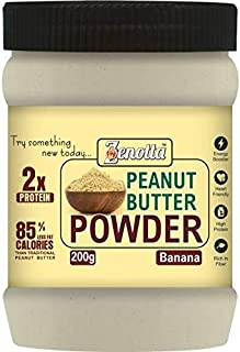 Zenotta Banana Flavour Peanut Butter Powder 200gm(15g Protein / 3g Fat / Low Fat / Non-GMO / Gluten Free)