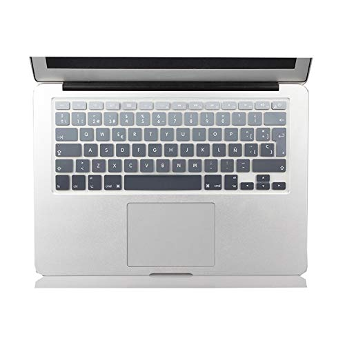 EU UK - Cubierta de teclado de silicona para MacBook Air 13 modelo antiguo Pro 13 15 pulgadas ultrafino protector de teclado-gris