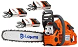 Husqvarna 460 Rancher (60cc) Chainsaw With 24' Bar and Chain Plus 3 WoodlandPRO Chain Loops