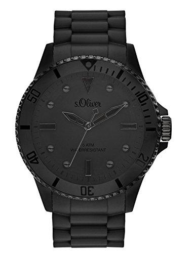 s.Oliver Time Unisex Erwachsene Zeitlernuhr Quarz Uhr mit Silikon Armband SO-3414-PQ