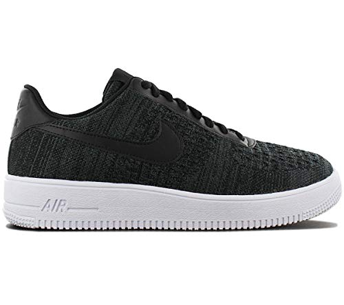 Nike Mens Air Force 1 Flyknit 2.0 Black/Anthracite-White CI0051-001 Basketball Shoes (10.5)