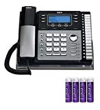 RCA 25424RE1 4-Line Expandable Phone System with Intercom Bundle with Blucoil 4 AAA Batteries