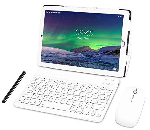 Tablet 10 Pulgadas YESTEL Android 8.0 Tablets con 3GB RAM & 32GB ROM y 4G LTE Dual SIM Call, 5.0 MP + 8.0 MP HD la Cámara y 8000mAH-Plata