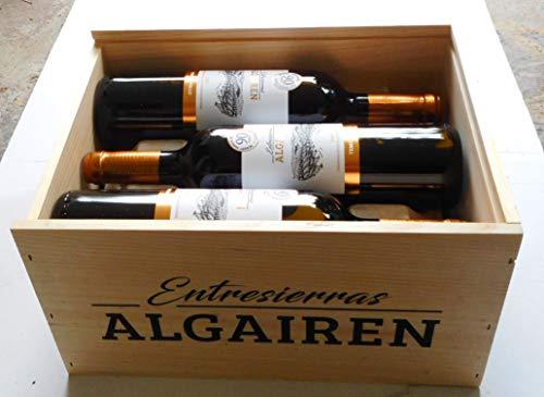 6 x Entresierras Algairen Tempranillo 2015 Bodegas Pablo 88-90 PP in Original-Holzkiste zum Sonderpreis, trockener spanischer Rotwein aus der DO Carinena