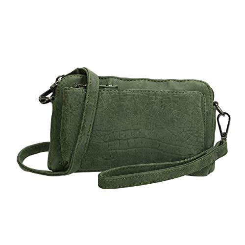 Enrico Benetti Mini Handtasche mit Krokoprägung (Oliv)