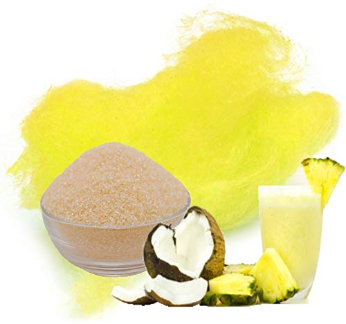 500g Aromazucker Pina Colada Gelb Zucker für bunte Zuckerwatte Farbaromazucker und Dekorzucker für Zuckerwattemachinen