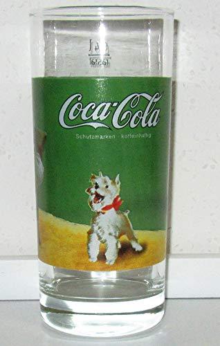 Coca Cola - Bicchiere in vetro, stile retrò, Natale, Babbo Natale, 1 x 0,4 l