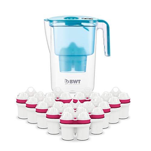 BWT - 815532 - Tischwasserfilter VIDA - 2,6 l, petrol - Wasserfilterkanne mit 13 Filter-Kartuschen für Magnesium Mineralized Water
