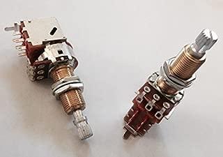 Pair (2X) Bourns 500K Push/Pull Audio Taper LONG (3/4