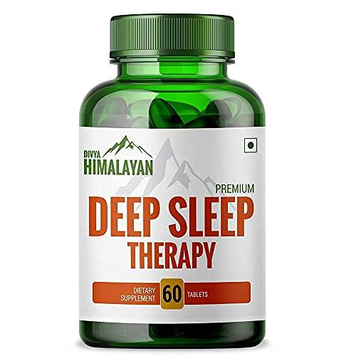 Divya Himalayan Natural Sleep Support Supplement Melatonin Capsule Herbal Non Habit Forming Sleeping Pills for Deep Sleep Therapy for Men Women Adults – 60 Tablets