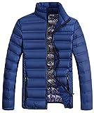 Primavera Autunno Cappotto Maschio Caldo Inverno Cotone Capped Giù - blu - XX-Large