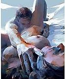 FNBN Pintar por numeros Adultos Pintura Crazy Sex Lovers Canvas Oil Painting Modern Art Painting DIY Painting Set Adecuado para Adultos y Principiantes