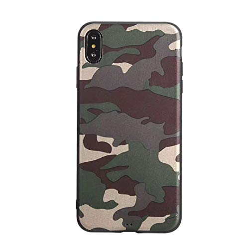 Vanki Cover iPhone XS/X Silicone Custodia Mimetica Militare TPU Bumper Case per iPhone XS/X (Color 2)