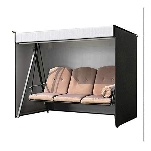 NINGWXQ Outdoor Furniture Cover Swing Cover waterdichte bescherming tegen de zon Hangmat Cover, 220X125X170cm, Black (Color : Black, Size : 220X125X170cm)