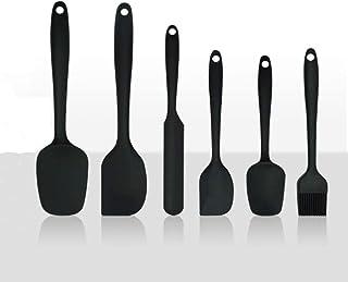 Mlopyuti 6PCSSilicone Spatula Setfor Cooking Baking and Mixing Heat ResistantSpatula Seamless (Include Basting Brush) H...