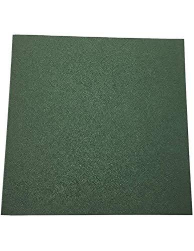 Jardin202 - Loseta de Caucho Verde - 20 mm 50x50
