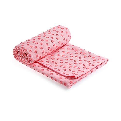 Lumanby - Asciugamano da yoga, tappetino antiscivolo per yoga, cuscino in PVC, prugna, pilates, coperte per fitness e yoga, 183 x 63 cm