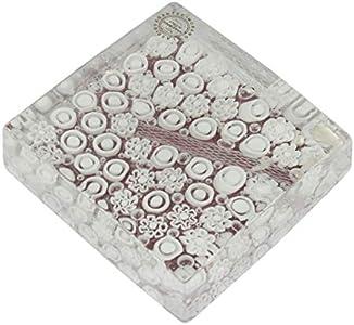 Pisapapeles Pompei - Millefiori White - Cristal de Murano