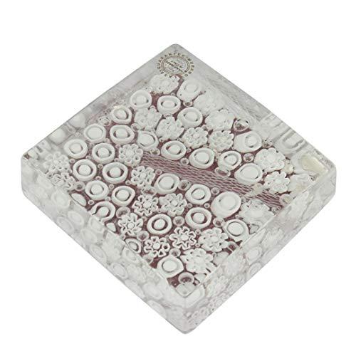 Fermacarte Pompei - Millefiori Bianco - vetro di Murano