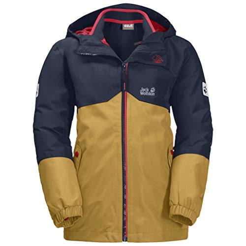 Jack Wolfskin Jungen Iceland 3In1 Jacket Jacke, Golden Amber, 128