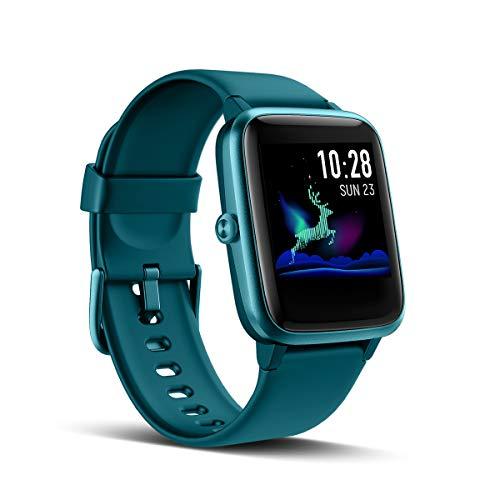LATEC Smartwatch, Fitness Armband Voller Touch Screen Fitness Tracker IP68 Wasserdicht Fitness Uhr mit Pulsuhren Schrittzähler Schlafmonitor Damen Herren Armbanduhr Sportuhr für iOS Android (Grün)