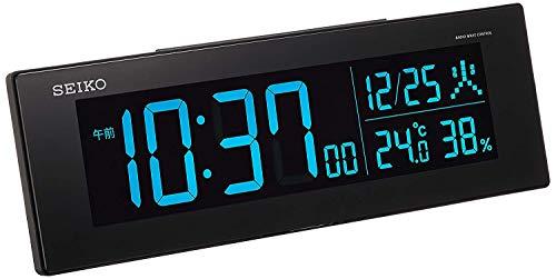 セイコークロック 置き時計 01:黒 本体サイズ:7.3×22.2×4.4cm 電波 デジタル 交流式 カラー液晶 シリーズC3 値札なし BC406K