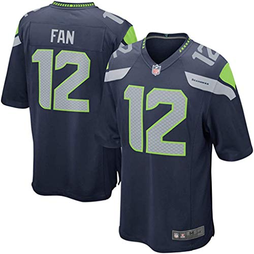 Seattle Seahawks Fan #12 Navy Youth 8-20 Home Game Day Player Jersey (18-20)
