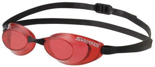SWANS(スワンズ) 競泳用 スイミング ゴーグル Sniper ノンクッション FINA承認モデル SR-10N レッド(R)