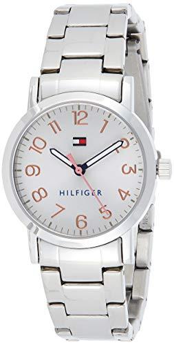 Tommy Hilfiger Reloj Analógico para Niñas de Cuarzo con Correa en Acero Inoxidable 01782174