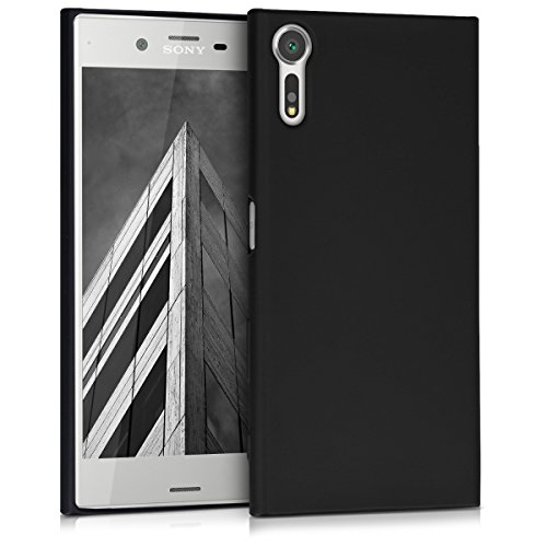 kwmobile Sony Xperia XZ/XZs Hülle - Handyhülle für Sony Xperia XZ/XZs - Handy Case in Metallic Schwarz
