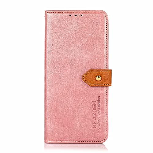 Hauw Funda ASUS Zenfone 8 Caso,Flip Wallet Carcasa de Telefono Cubrir para ASUS Zenfone 8,Rosado