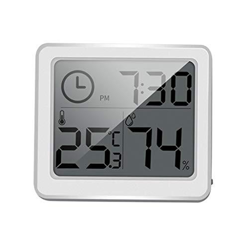 Xisimei Thermometer Hygrometer Innen Digitales Thermo-Hygrometer Innen Hydrometer Feuchtigkeit Temperatur und Luftfeuchtigkeitsmesser für Babyraum, Büro, Wohnzimmer, Raumluftüerwachtung