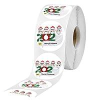 ギフトシール 500個/ロール紙ステッカークリスマス防止紙テープDIYステッカースクラップブッキングステーショナリーステッカー 用品 (Size:1 Inch; Color:C1)